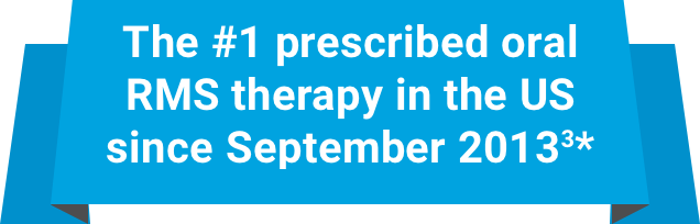 The #1 prescribed oral RMS therapy in the US since September 20133*